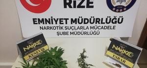 Rize'de uygulama noktasında uyuşturucu ele geçirildi