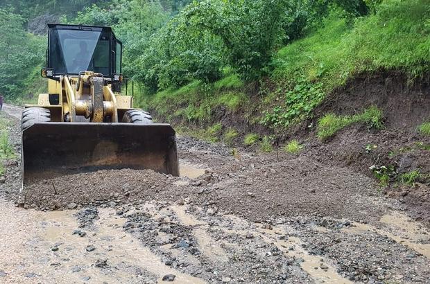 Ordu'da yağış hasarlarına anında müdahale