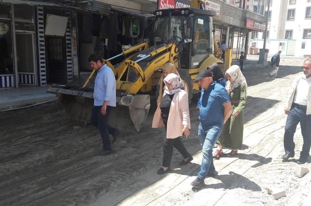 Başkan Çetin, yol yapım çalışmalarını inceledi