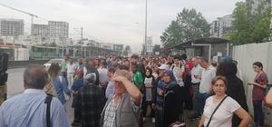 Bursa'da metroya yıldırım düştü Binlerce yolcu otobüslerle taşındı