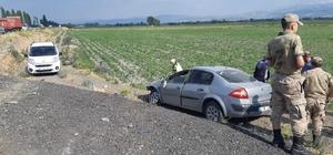 Pasinler'de trafik kazası: 2 yaralı