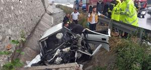 Su kanalına giren otomobil 85 metre ilerledikten sonra menfeze çarptı: 1 ölü
