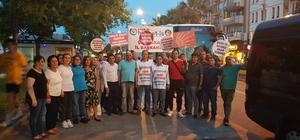 Belediyelerdeki işten çıkarmaları protesto etmek için yürüyorlar
