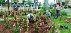 Mersin'de parklar renkleniyor