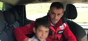 Kars'ya kaybolan çocuk 8 saat sonra bulundu