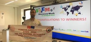 Köşk 100. Yıl Ortaokulu Avrupa'da Türkiye'yi temsil etti