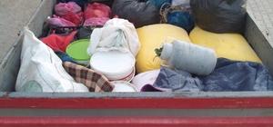 Teröristlere götürüleceği değerlendirilen bir römork dolusu malzeme ele geçirildi
