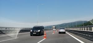 TEM Otoyolunu kullanacak sürücüler dikkat Bakım çalışması sürüyor trafik Ankara yönünden veriliyor