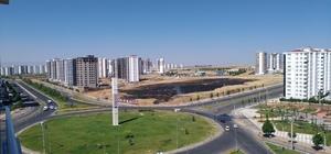 Diyarbakır'da yanan tarladan geriye kara toprak kaldı