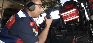 Skorsky ile trafik denetimi Kastamonu'da kural ihlali yapan sürücüler helikopterle tespit edildi Uygulamada 290 araç kontrol edildi