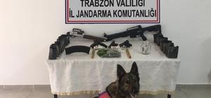 Uyuşturucu baskınlarından cephane çıktı Trabzon'da jandarmadan eş zamanlı operasyonlar