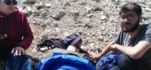 2992 metrede mahsur kalan yaralı dağcı, Jandarma helikopteriyle kurtarıldı