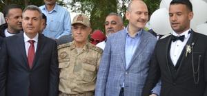 Bakan Soylu, Afrin'de görev yapan uzman çavuşun düğününe katıldı