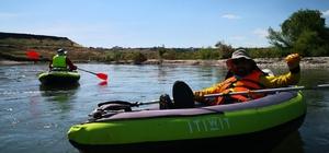 Diyarbakır'da kano heyecanı Tigris Bisiklet ve Özel Sporcular Kulübü üyeleri, Dicle Nehri'nde kano heyecanı yaşadı