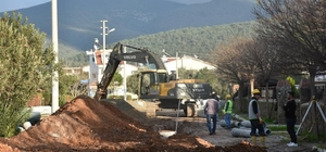 Büyükşehir Belediyesi Akbük Kanalizasyonunun büyük bölümünü bitirdi