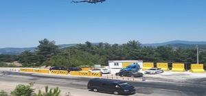 Çanakkale trafiğine havadan denetim