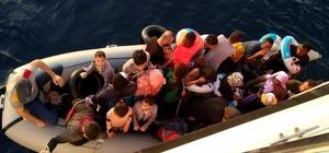 Didim'de bir gecede 73 göçmen yakalandı Aydın'ın Didim ilçesinde yasa dışı yurt dışına kaçış hazırlığında olan değişik ülkelere ait toplam 73 düzensiz göçmen Sahil Güvenlik ekiplerince yakalandı.