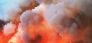 Muğla'nın ciğerlerini yakan yangın havadan görüntülendi 250 hektarlık alanda etkili olan yangın için çevre illerden takviye ekipler istendi