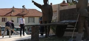 Kurtuluş Savaşı'nın sembolü ''Kırık Kağnı ve Üç Komutan Anıtı'' bakıma alındı