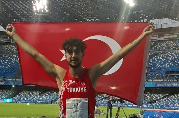 Alperen Acet, Üniversite Yaz Oyunları'nda Türkiye'nin ilk madalyasını aldı Denizlili sporcu, yüksek atlamada milli sporcu Türkiye tarihine geçti