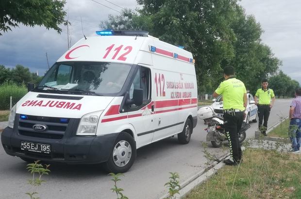 Bankete çarpan motosiklet sürücüsü yaralandı