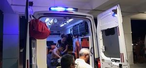 Kuşadası'nda boğulma tehlikesi geçiren iki genci kurtarmak için herkes seferber oldu