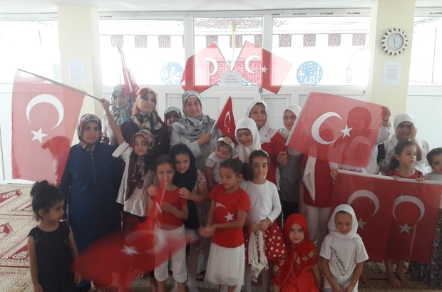 Kur'an kursu öğrencileri 15 Temmuz'u andı