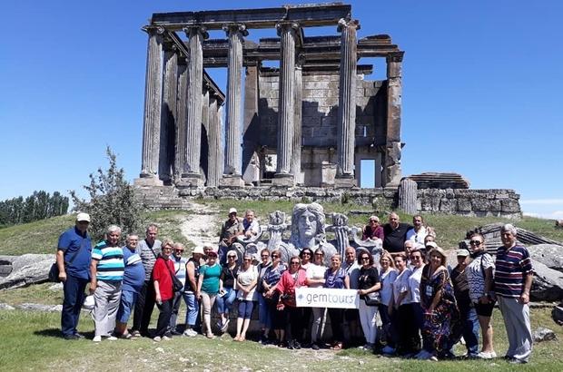Aizanoi Antik Kenti Kıbrıs'tan gelen misafirlerini ağırladı