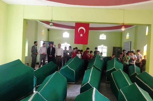 Kaymakam Okatan, Yaz Kur'an Kursu öğrencileri ile türbe ziyaret etti