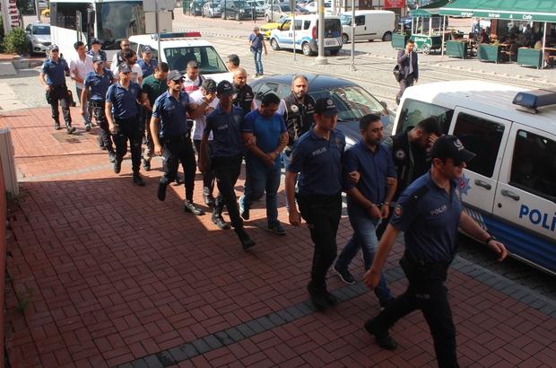 FETÖ operasyonunda gözaltına alınan 7 asker adliyeye sevk edildi