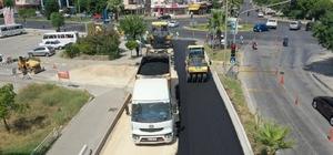 Çevre Bulvarında asfaltlama çalışması başladı