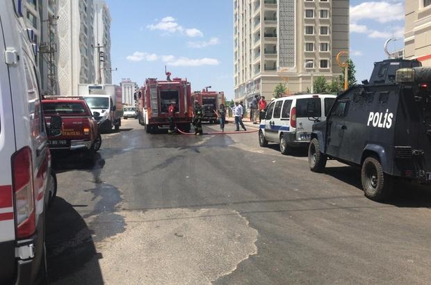 Diyarbakır'da market deposunda yangın: 5 kişi dumandan etkilendi