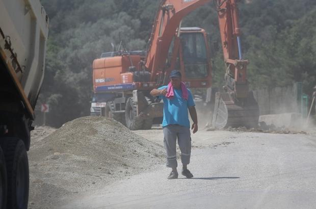 Tek caddeye 3 bin 300 ton asfalt