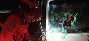 Susurluk'ta 3 aracın karıştığı zincirleme kazada 9 kişi yaralandı