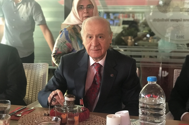 MHP Lideri Bahçeli, 40 yıl hatırlı 'Türk kahvesi' içti Devlet Bahçeli Eskişehir'de