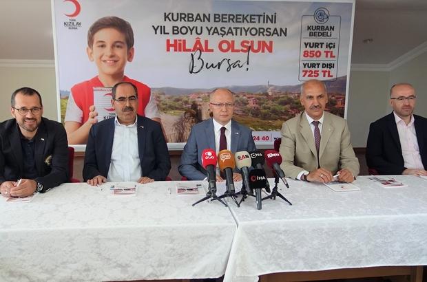 """Kurban bereketini yıl boyu yaşatmak isteyenler vekaletlerini Kızılay'a veriyor Kızılay Bursa Şube Başkanı Davut Gürkan: """"Kurban bağış kampanyamızda gücümüzü Bursamızın merhamet ve yardımlaşma duygularından alıyoruz"""""""