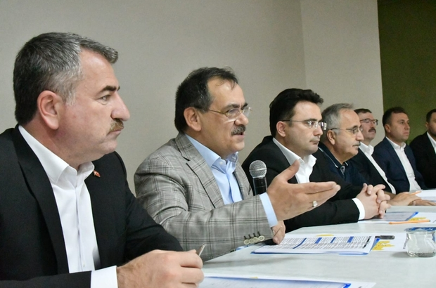 """Başkan Demir, kurmaylarıyla Havza'da Demir: """"Hizmet ve yatırımda yarış zaman"""""""