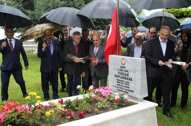 Düzce'de 15 Temmuz etkinliği Şehitler için dua edildi, 15 Temmuz Şehidinin kabri ziyaret edildi