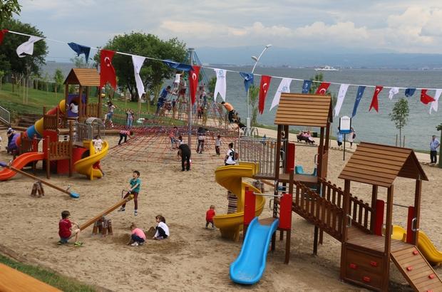 Kocaeli'nin ilk millet bahçesi açıldı Osmangazi Köprüsü'nün gölgesinde millet bahçesi açıldı Eskihisar ve Darıca sahili birbirine bağlanıyor