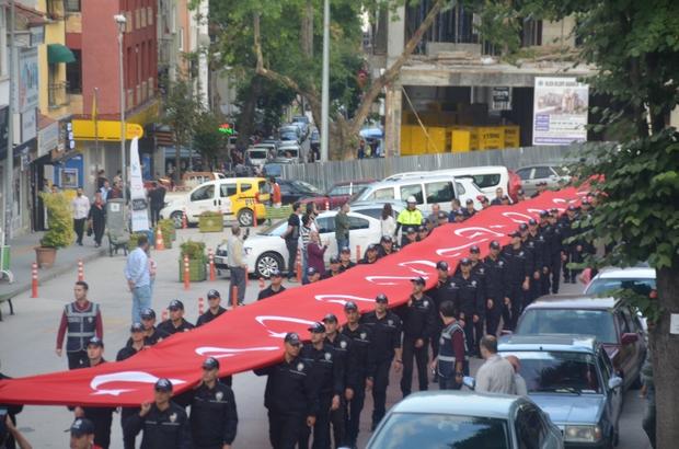 Bilecik'te 15 Temmuz Demokrasi ve Birlik yürüyüşü