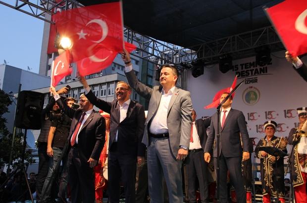 """İzmir'de """"15 Temmuz Demokrasi ve Milli Birlik Günü"""" etkinliği Tarım ve Orman Bakanı Bekir Pakdemirli: """"Demokratik bütün hak ve talepler bizim başımızın üstündedir. Ancak biz, milletin iradesinin üstünde bir iradeyi de asla tanımadık, tanımayacağız"""""""