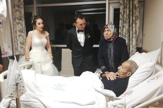 (Özel) - Vefalı damat düğün sonrası soluğu hastanede aldı