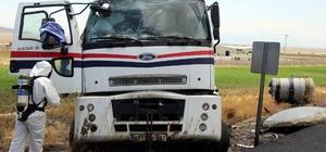 Asit yüklü tanker devrildi AFAD'ın özel kıyafetli ekipleri kaza yerinde inceleme yaptı