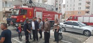 Konya'da apartmanda yangın paniği