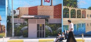 Tarihi kentin simgeleri duvarlara resmedildi Şanlıurfa'nın tarihi eserleri kentin duvarlarını süsledi