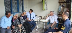 Kaymakam Abbasoğlu ve Başkan Akağaç'tan yaşlılara ziyaret