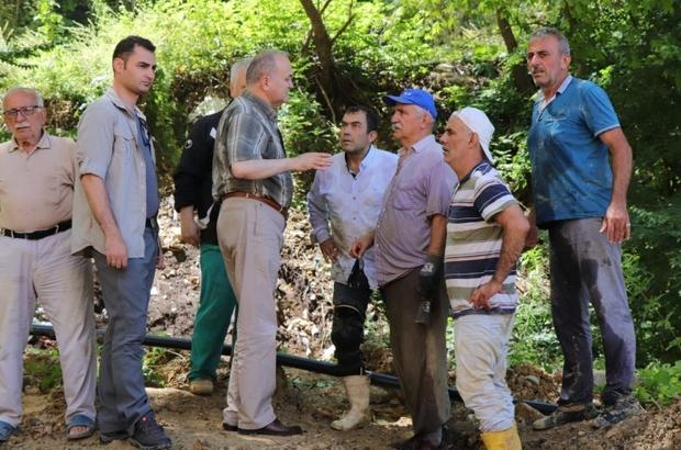 """Başkan Özlü, """"İlk saatlerden beri ekiplerimiz ile sahadayız"""" Sel bölgesinde yaralar sarılmaya çalışılıyor"""