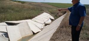Yeni yapılan kanal hizmete girmeden çöktü