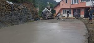 Gürgentepe'ye beton yol