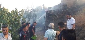 Tarihi mahalle Birgi'de korkutan yangın: 1 yaralı Kafeterya olarak kullanılan tarihi bina küle döndü